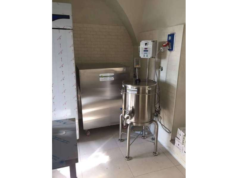 Mini pasteurizer for an artisan ice cream factory