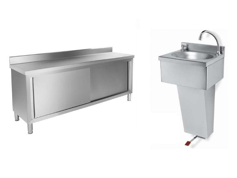 Stainless steel Furniture and Sinks